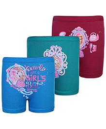 Barbie Print Bloomers Multi Colour - Set of 3
