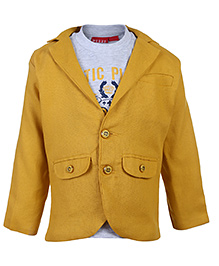 Noddy Full Sleeves T-Shirt With Jacket - Yellow