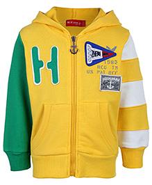 Noddy Hooded Sweat Jacket - Zhemi Fang Print