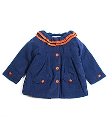 Nauti Nati Full Sleeves Jacket Contrast Buttons - Navy Blue