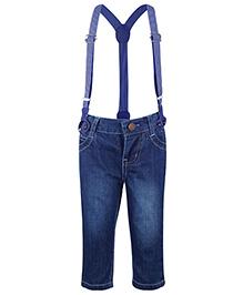 Nauti Nati Full Length Jeans With Suspenders