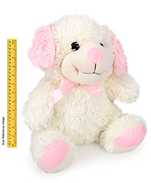 IR Dog Soft Toy - Cream And Pink