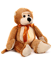 IR Huggable Monkey Soft Toy - Light Brown