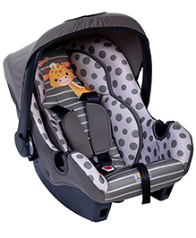Little Wanderers Infant Car Seat Cum Carry Cot Giraffe - Grey - All Over Dimension 50 X 37 X 53 Cm