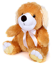 IR Dog Soft Toy - Brown And Cream