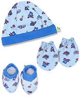 Buzzy Hat Socks And Mittens Set - Light Blue