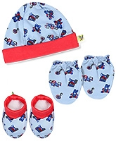 Buzzy Hat Socks And Mittens Set - Red