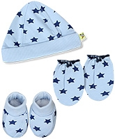 Buzzy Hat Socks And Mittens Set - Stars Print