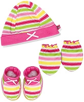 Buzzy Hat Socks And Mittens Set - Multicolour