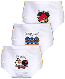 Angry Birds Briefs Multi Print White - Set of 3