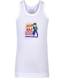 Ben 10 Sleeveless Vest White - Alien Force Print