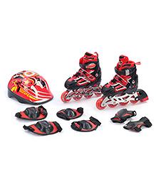 Fab N Funky Adjustable Skate Set - Red