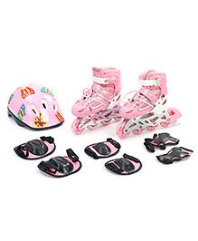 Fab N Funky Adjustable Skate Set Butterfly Design - Pink