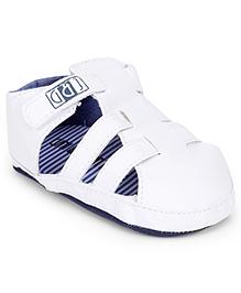 Gini & Jony Infant Booties With Velcro Closure - White