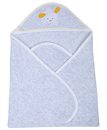 Doreme Wrapper Grey - Rabbit Embroidery