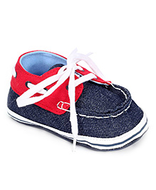 Gini & Jony Shoe Style Booties - Navy And Red