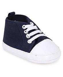 Gini & Jony Shoe Style Booties - Navy And White