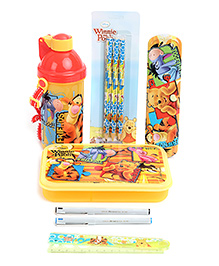 Winnie The Pooh School Kit Yellow And Red - Pack Of 6