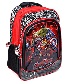 Avengers Printed School Bag - Red And Black - 30 X 14 X 40 Cm