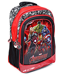 Avengers Printed School Bag Red And Black - 17 Inches