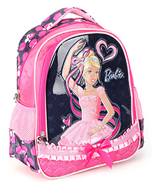 Barbie Pink Backpack Bow Applique - 13 Inches