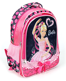 Barbie Pink Backpack Bow Applique - 15 Inches