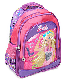 Barbie Backpack Printed Pink And Purple - 16 Inches