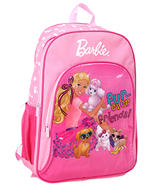 Barbie Pink Backpack Friends Print - 18 Inches