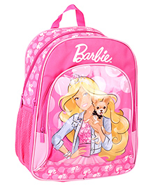 Barbie Printed Backpack Pink - 16 Inches