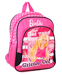 Barbie Pink Backpack Printed - 14 Inches