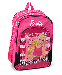 Barbie Pink Backpack Printed - 18 Inches