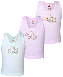 Zero Sleeveless Vests Multicolour - Set Of 3