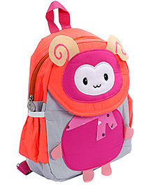 Fab N Funky Multi Color Backpack - Bug Face