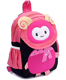 Fab N Funky Multi Color Backpack - Bug Face - 22 X 10 X 30 Cm