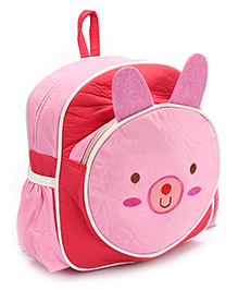 Fab N Funky Backpack Red And Pink - Panda Face - 22 X 10 X 30 Cm