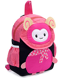 Fab N Funky Backpack Pink - Bug Face - 22 X 10 X 30 Cm