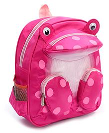 Fab N Funky Backpack Pink - Frog Shape