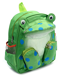 Fab N Funky Backpack Green - Frog Shape