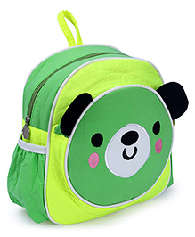 Fab N Funky Backpack Panda Face - Green And Yellow