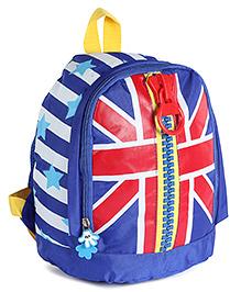 Fab N Funky Backpack Blue Flag Print - 10 Inches