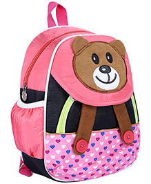 Fab N Funky School Bag Pink And Black - Panda Face - School Bag 22 X 10 X 30 Cm
