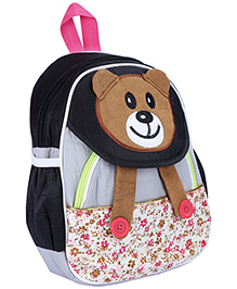 Fab N Funky School Bag Black And Grey - Panda Face - School Bag 22 X 10 X 30 Cm