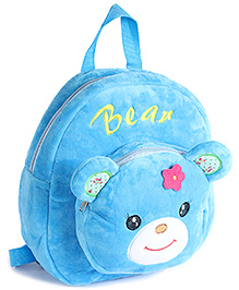 Fab N Funky Plush Backpack Blue - Bear