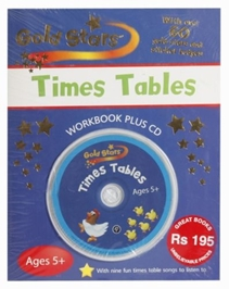 Gold Stars Times Tables Work Book Plus CD