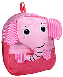 Fab N Funky School Bag Red And Pink - Elephant Face - School Bag 24 X 9 X 30 Cm