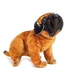 Tickles Pug Dog Soft Toy - Brown