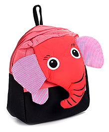Fab N Funky School Bag Black And Red - Elephant Face - School Bag 24 X 9 X 30 Cm