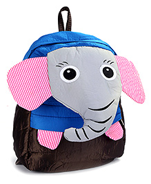 Fab N Funky School Bag Black And Grey - Elephant Face - School Bag 24 X 9 X 30 Cm