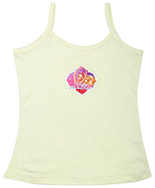 Barbie Singlet Slip Yellow - Pink Shoes Print