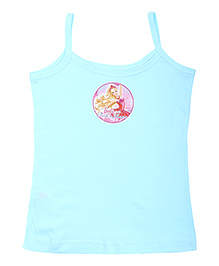 Barbie Singlet Slip Blue - Pink Shoes Print